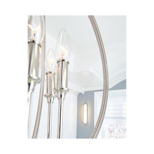 Lustra cristal dormitor Feiss Corinne, E14, 3x60W, argintiu, D 29 cm
