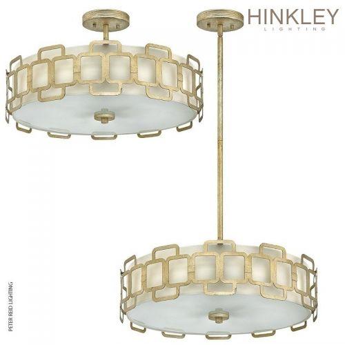 Lustra-plafoniera artistica Hinkley Sabina, E27, 4x60W, auriu