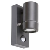 Spot cu senzor minimalist plastic negru Medina 8834, GU10 1x10W, IP44
