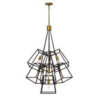 Candelabru Hinkley Fulton, E27, 7x60W, bronz-auriu, H 124-216 cm