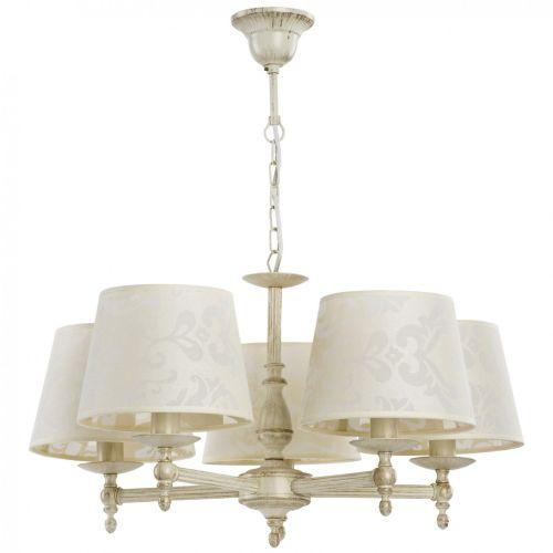Lustra de sufragerie Roksana KL6733, E14, 5x60W, ivoire