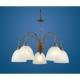 Lustra clasica Eglo Dionis 89897, 5x40W, Ruginie