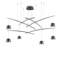 Lustra suspendata living Fish Sp6 Nero, neagra, 37W-LED