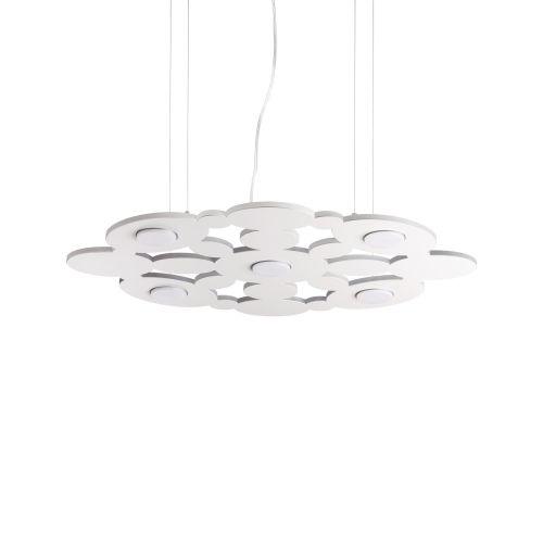 Lustra LED dormitor Toronto Sp5 Bianco, metal alb, 5x15W