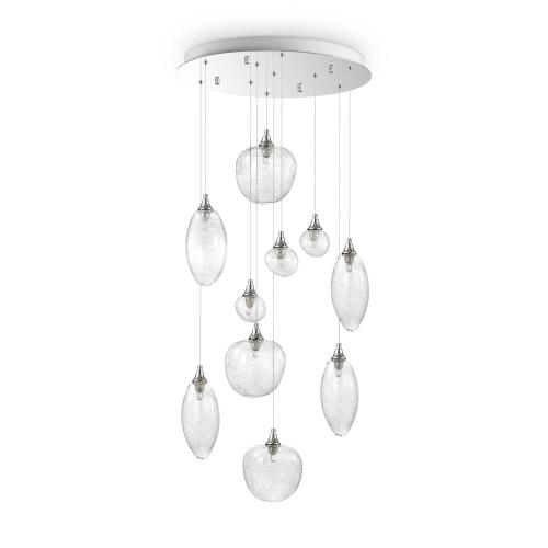 Lustra LED living Baco Sp10 Cromo, argintie, G9-LED, 10x3.2W