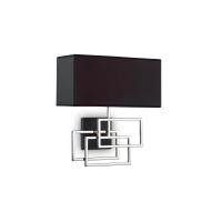 Aplica perete hol si sufragerie Luxury Ap1 Cromo, crom/negru, E27 x 60 W