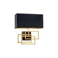 Aplica de perete living si dormitor Luxury Ap1 Ottone, alama/negru, E27 x 60 W