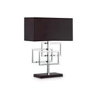 Veioza decorativa cu picior de noptiera Luxury Tl1 Cromo, crom/negru, E27 x 60W