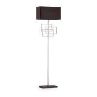 Lampadar living de podea Luxury Pt1 Cromo, crom/negru, E27 x 60 W