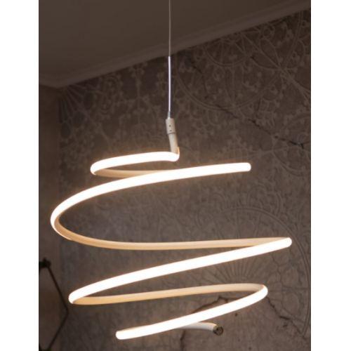 Lustra LED suspendata Apple, alba, 40W, 2800 lumeni, 3000K, Ø: 40 cm