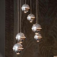 Lustra LED cu 6 sfere luminate Zen, crom, LED, 6 x 4W, 1440 lumeni