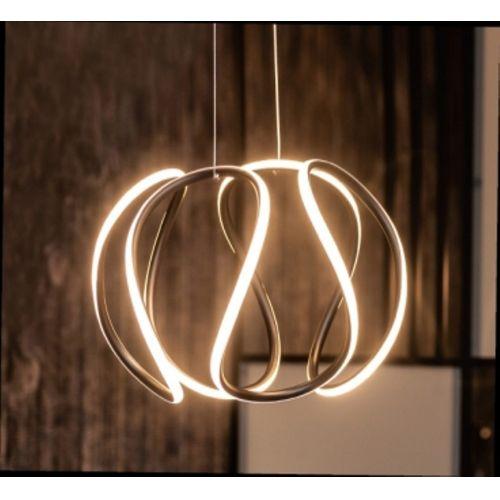Lustra LED curbata Twist, neagra, 40W, 2800 lumeni