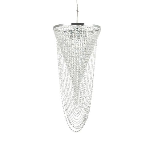 Lustra cristal Pearl Sp6, crom, 6 becuri, 360W-E14