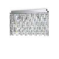 Plafoniera cristal Elisir Pl6 crom, 6 becuri, G9, alb cald, 1800 lumeni