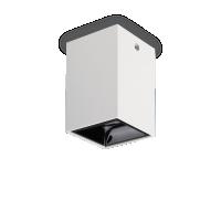 Spot Nitro patrat, alb, 15W-LED, alb cald, 1350 lumeni