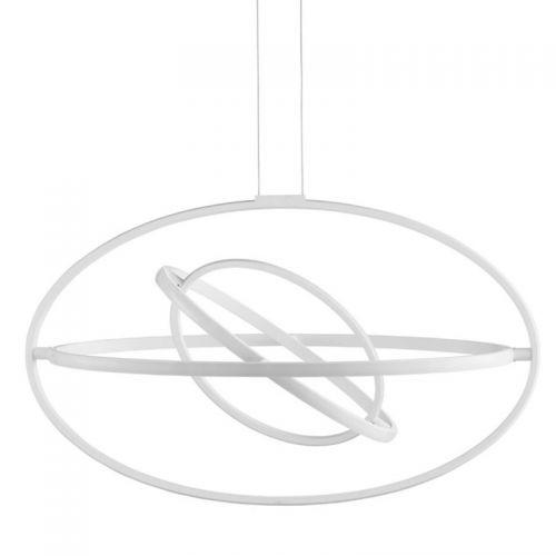 Lustra LED O'RING, alba, L:82cm, 6200 lumeni, 62W, 3000K, alb cald