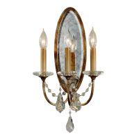 Aplica traditionala cristal Valentina, E14, 3x60W, bronz, H:48,5 cm