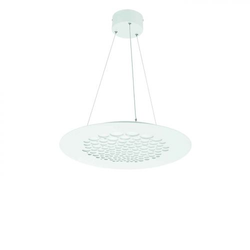 Lustra LED bucatarie rotunda Paguro, D:50cm, 3300 lumeni, alb cald, H:40-125 cm