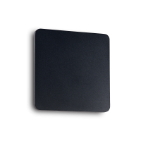 Aplica design Cover Ap1 patrata, neagra L:20 cm, 9W-LED, alb cald, 934 lumeni
