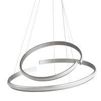 Lustra LED pe banda Sigma argintie, 70 cm, 4000 lumeni, alb cald, dimabila