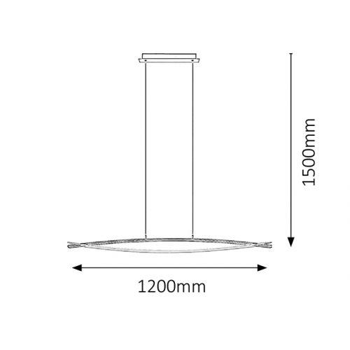 Lustra suspendata LED Ulla 2200 Rabalux, 19W, 1550 lumeni