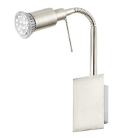 Aplica spot LED Eglo Eridan 90823 1x 3W GU10 orientabila, cu intrerupator pe fir, cu 1 bec LED economic 3W