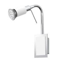 Aplica spot LED Eglo Eridan 90832 1x 3W GU10 orientabila, cu intrerupator pe fir, cu 1 bec LED economic 3W
