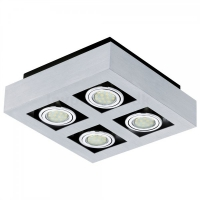 Plafoniera Eglo Loke 1 91355 4x 3W GU10 orientabil, cu 4 becuri LED economice 3W
