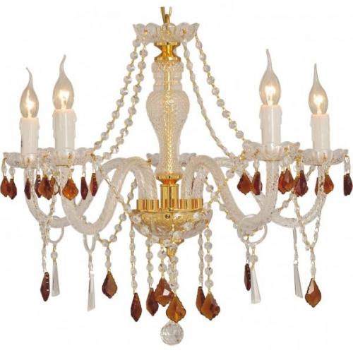 Lustra KL2682 Candle 5 Klausen/Primanova 5x40W E14 metal auriu, cristal K9