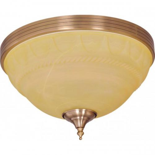 Plafoniera KL7158 Alexia PL3 Klausen 3x60W E27 metal bronz, sticla crem