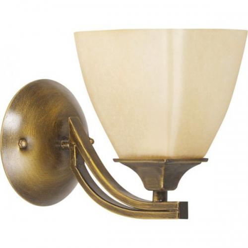 Aplica KL2544 Baldo AP1 Klausen/Primanova 1x60W E27 metal bronz antic, sticla crem