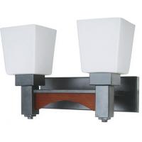 Aplica KL2599 Arcada AP2 Klausen/Primanova 2x60W E27 metal negru, lemn finisaj cires sticla alba