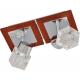 Klausen KL7725 Ritz AP2, crom/transparent, aplica 2 becuri