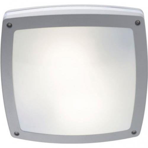 Klausen KL0631 Carson 2, aluminiu/alb, plafoniera exterior 2 becuri