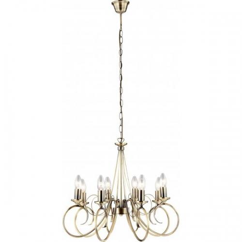 Globo 69003-8 Truncatus, alama antica, candelabru cu 8 becuri pentru sufragerie